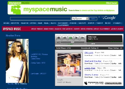 heather Nova on MySpace