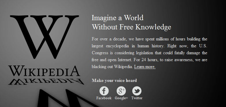 support wikipedia and let the Internet remain open and free